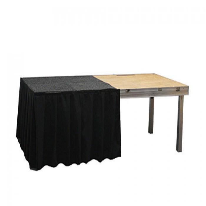 Podiumrok zwart, hoogte 80 cm, lengte 2 meter