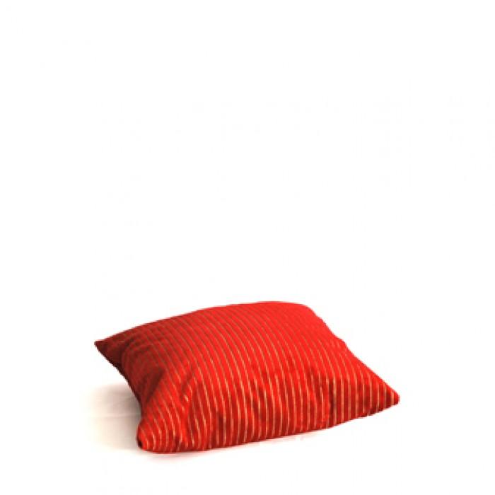 Kussen, rood, rolinka streep