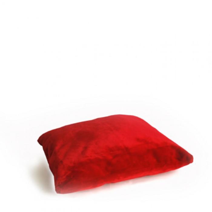 Kussen, rood pluche