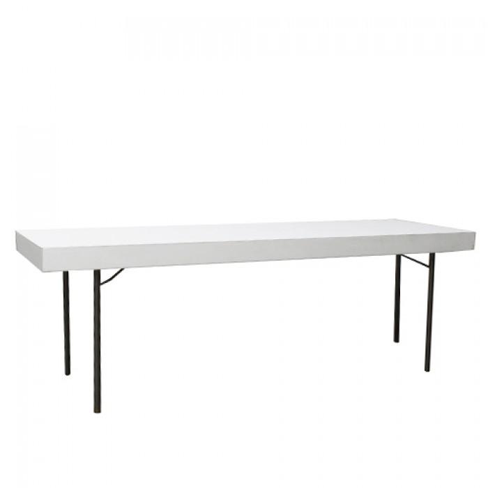 Klaptafel wit, 220x70 cm.
