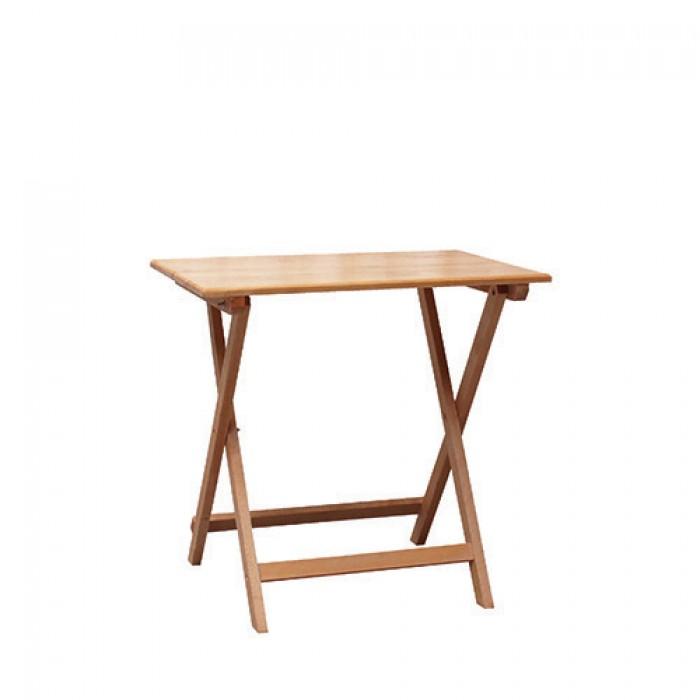 Klaptafel hout, 80x55 cm.