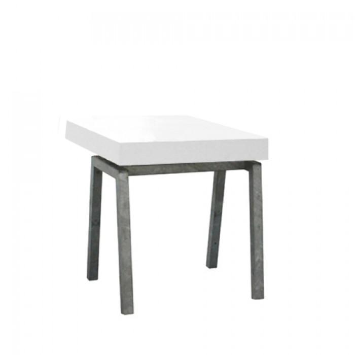 Steel White zittafel