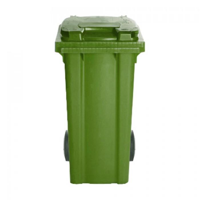 Afvalcontainer groen, 120 liter