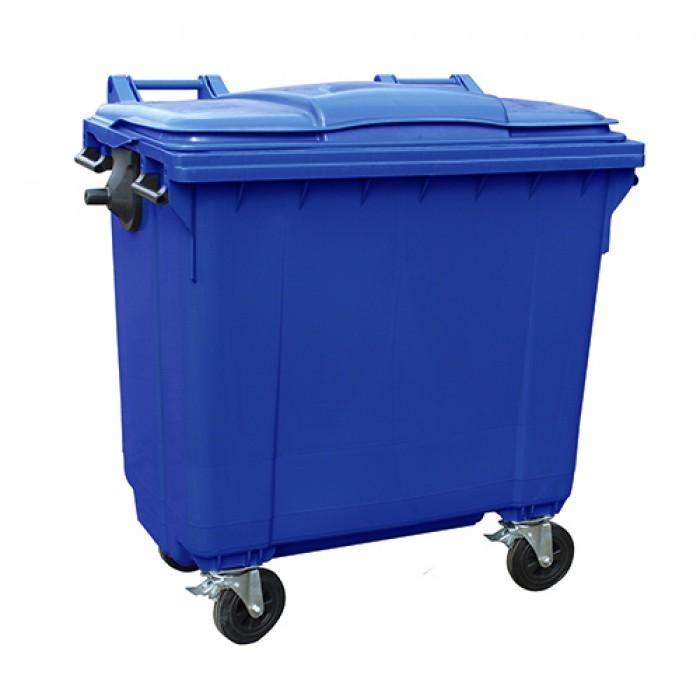 Afvalcontainer blauw, 1100 liter