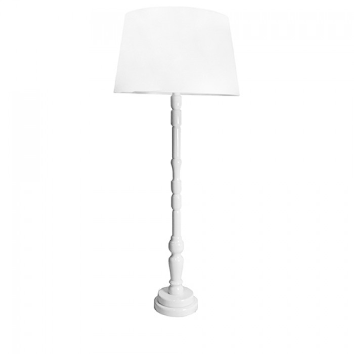 Luxe staande lamp rond wit