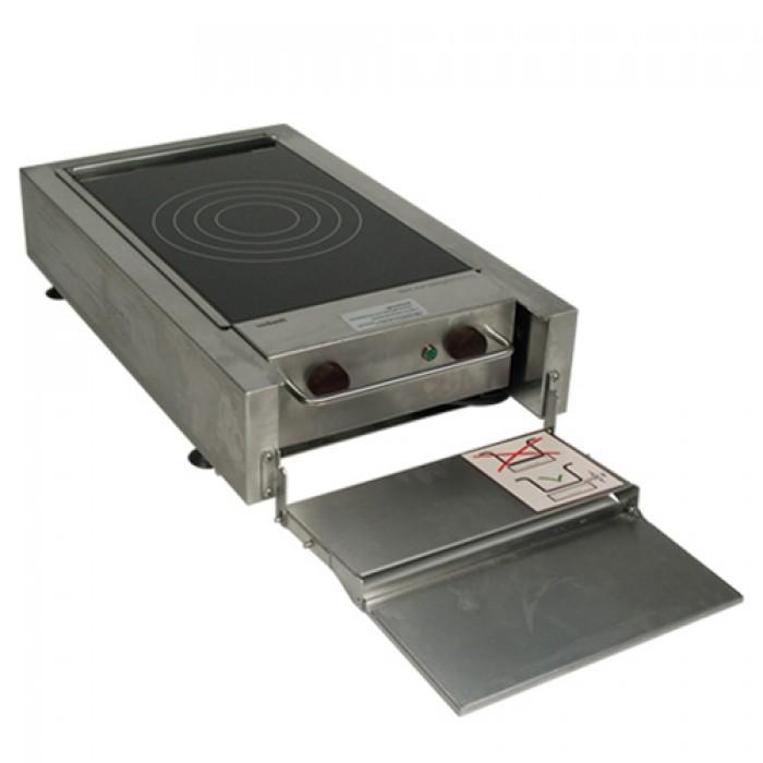 Front cooking inductieplaat