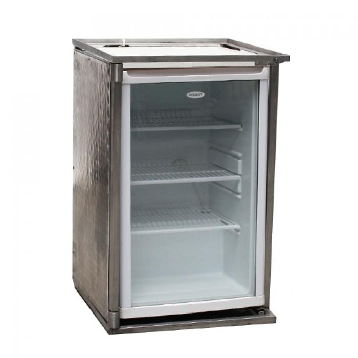 Koelkast met glazen deur, 140 liter   Apparatuur   H u00e9man horecaverhuur