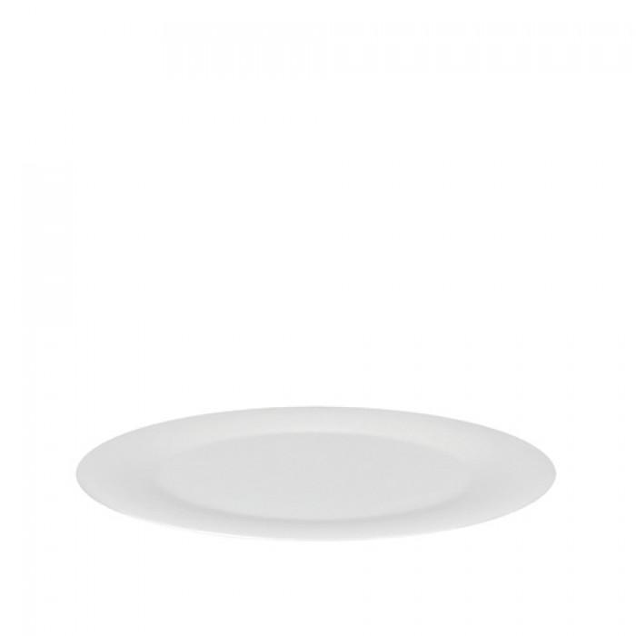 Schaal melamine wit, Ø 38 cm.