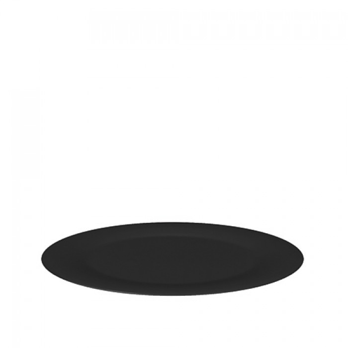 Schaal melamine zwart, Ø 38 cm.