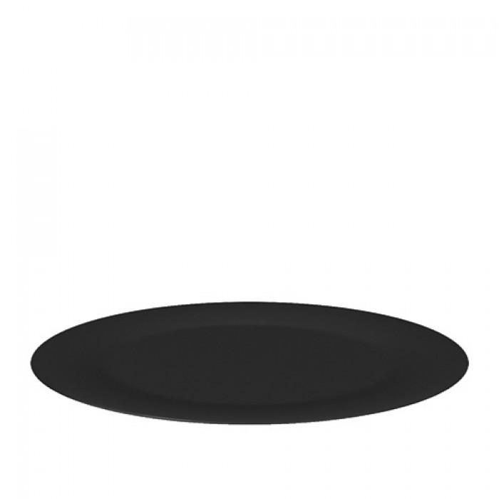 Schaal melamine zwart, Ø 48 cm.