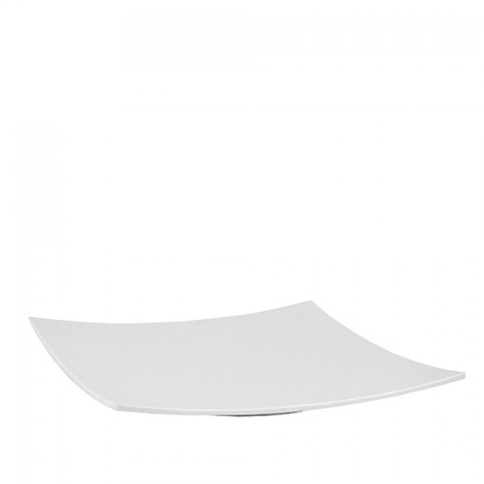 Schaal melamine wit, Square plate