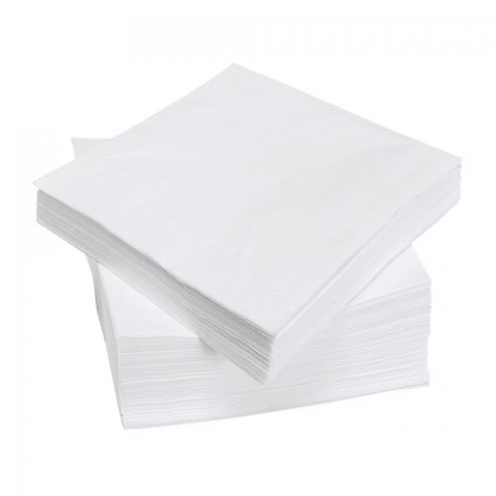 Servetten blanco, 33×33 cm.
