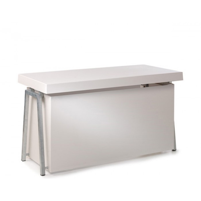 Steel White buffet, 3 zijden gesloten