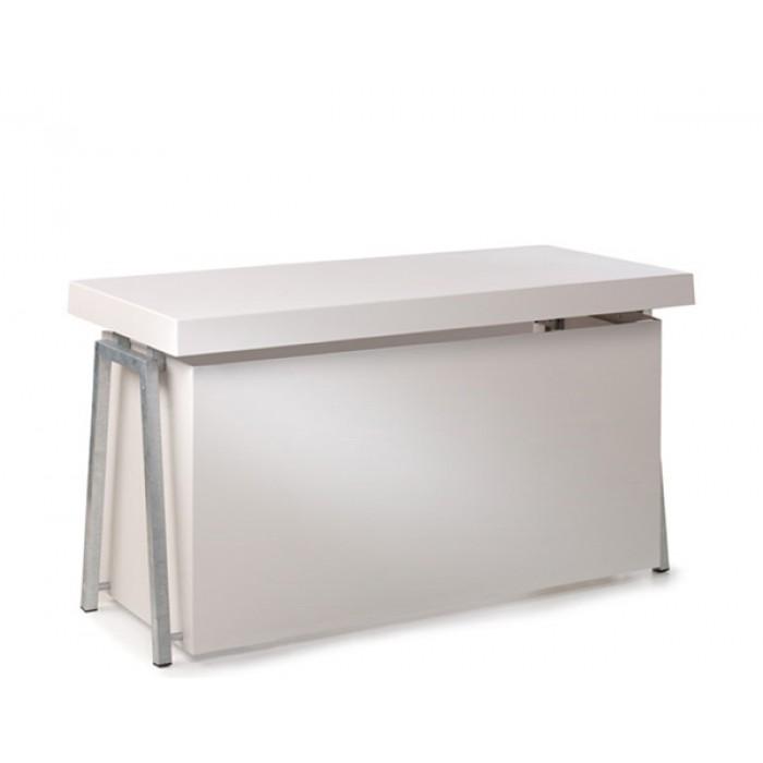 Steel White buffet, 4 zijden gesloten