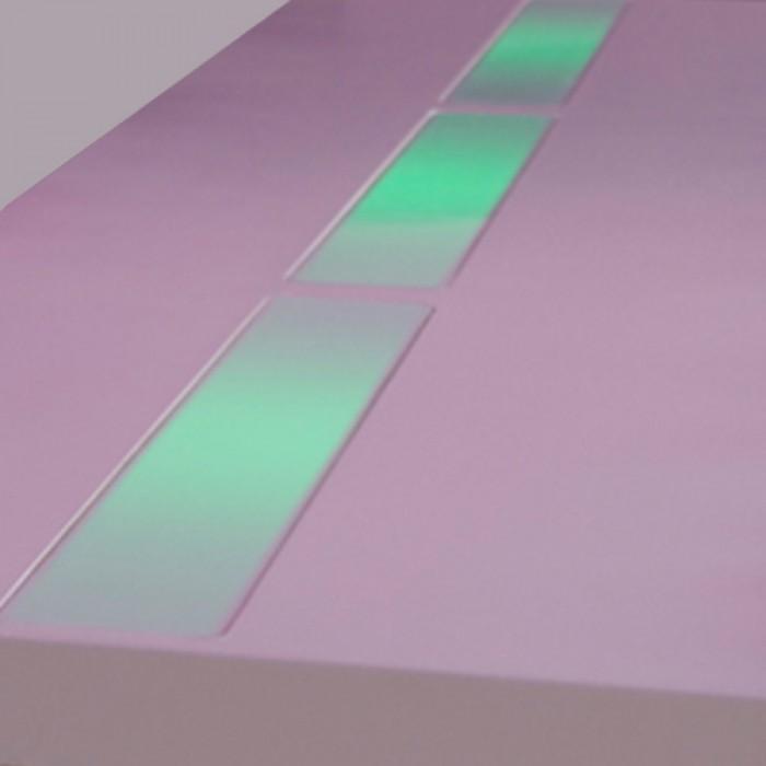 Highlight zittafel wit, met groene LED verlichting