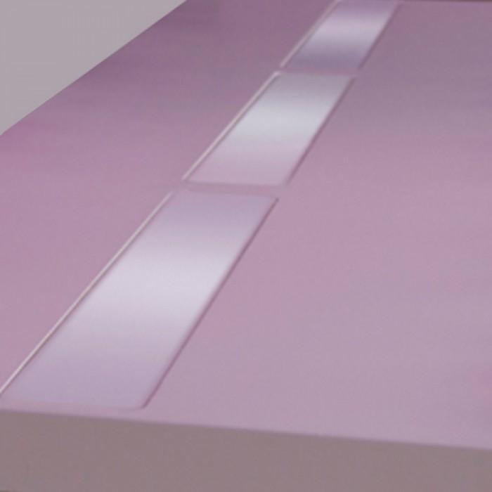 Highlight zittafel wit, met warm witte LED verlichting