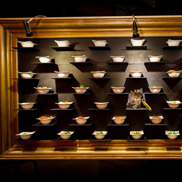Schilderijlijst goud, t.b.v. food presentatie detail