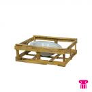 Schaal in houten kist