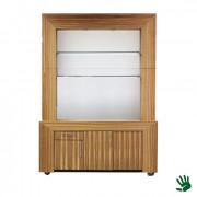 Bamboo achterkast wit