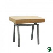 Oak zittafel, met Steel onderstel