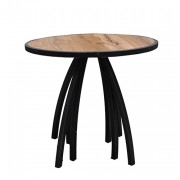 Hot Metal zittafel, Ø 80 cm.