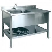 Spoeltafel, incl. boiler