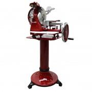 Vleessnijmachine classic rood, op voet
