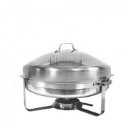Chafingdish groot rond, incl. pastabrander