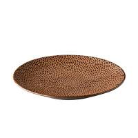 Dinerbord reliëf, bruin Ø 27,5 cm