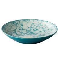 Diep bord Bubble, turquoise, Ø 25,5 cm