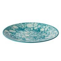 Platbord Bubble, turquoise, Ø 27,5 cm