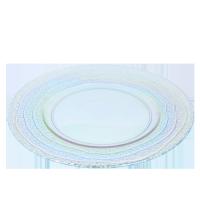 Bord Rainbow glas, Ø 28 cm.