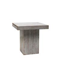 White Wash zittafel, 80x80x80 cm.
