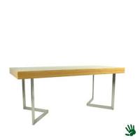 Bamboo zittafel lang, met V-vorm onderstel