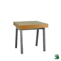 Bamboo zittafel, met Steel onderstel