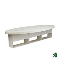 Highlight zittafel ovaal wit