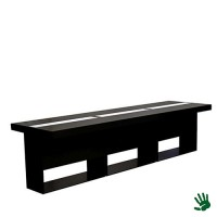 Highlight zittafel zwart lang, met LED verlichting