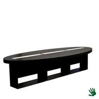 Highlight zittafel ovaal zwart, met LED verlichting