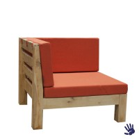 Oak Outdoor loungebank hoekdeel, oranje