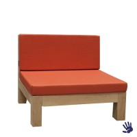 Oak Outdoor loungestoel, oranje