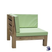 Oak Outdoor loungebank hoek, mintgroen