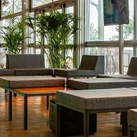 Hot Metal loungebankje met rug, grijs, 80x80x50 cm.