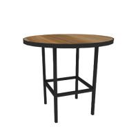Hot Metal zittafel rond met vierkant onderstel, Ø 80 cm