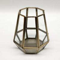 Lantaarn, glas, metaal/goud