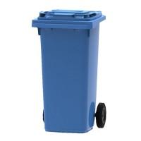 Afvalcontainer blauw, 120 liter