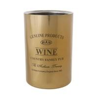Wijnfleskoeler RVS goud