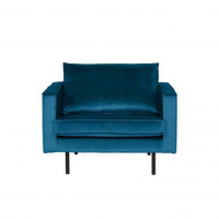 Home - Fauteuil, blue, velvet
