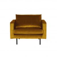 Home - Fauteuil, earthy yellow, velvet