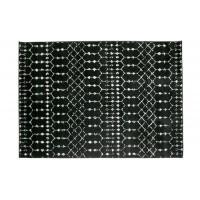 Home - Vloerkleed, zwart met patroon