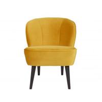 Home - Stoel, yellow velvet